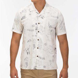 NWT Hurley Short Sleeve Button Down Shirt - S